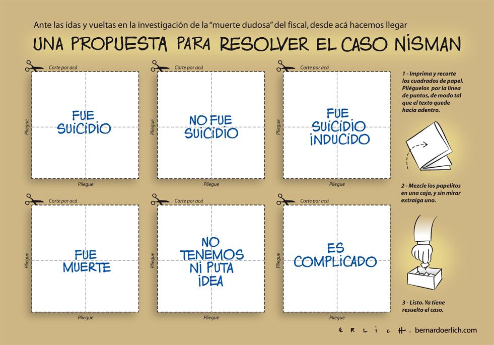 Para resolver el caso Nisman