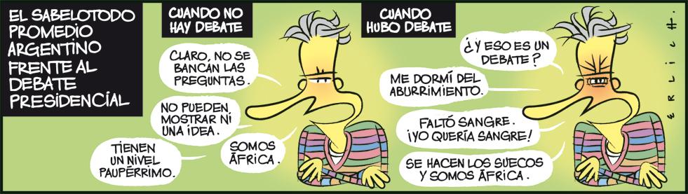 El sabelotodo frente al debate