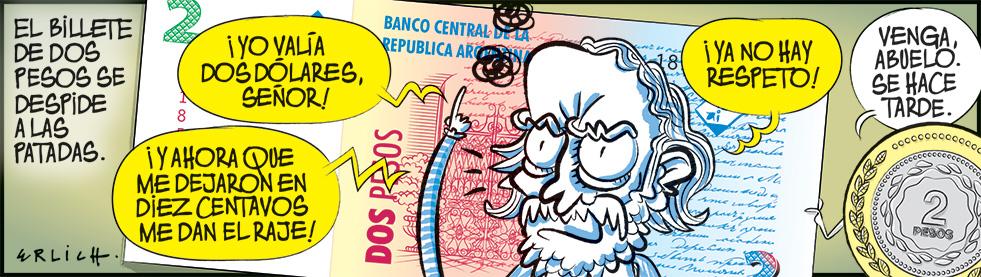 Adiós, billete de dos pesos