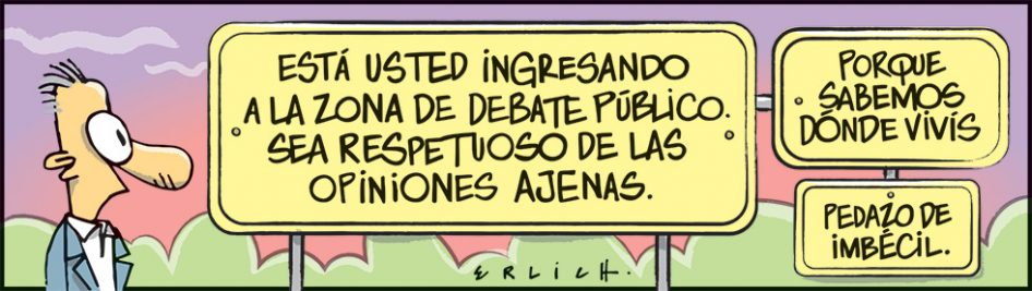 La zona de debate