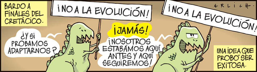 ¡NO A LA EVOLUCIÓN!
