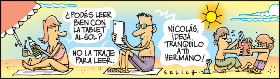 La tablet al sol
