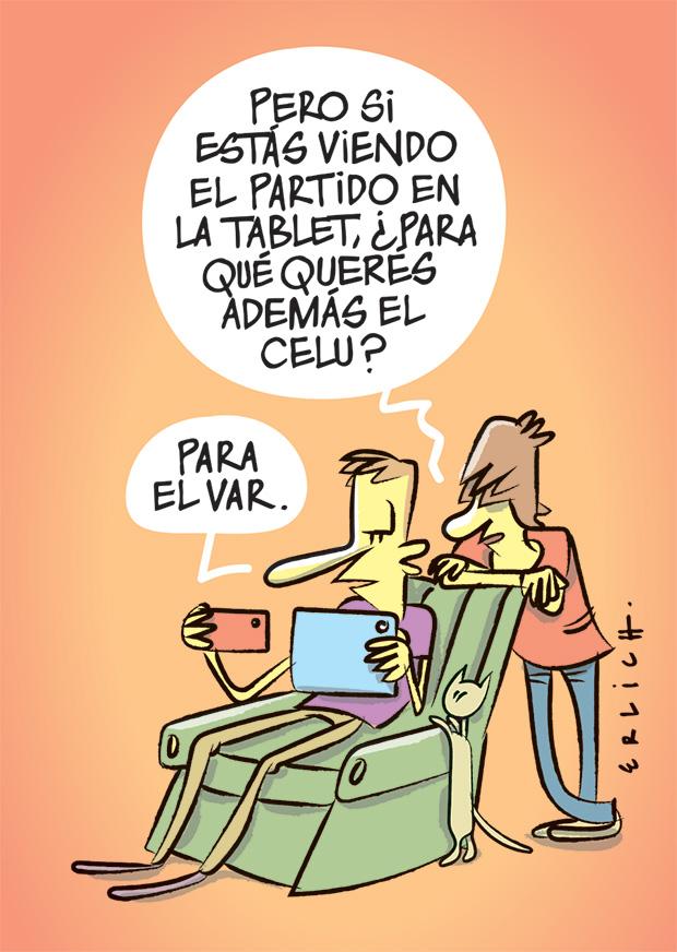 La tablet y el celular