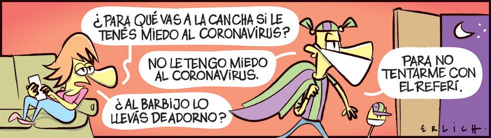 La cancha y el coronavirus