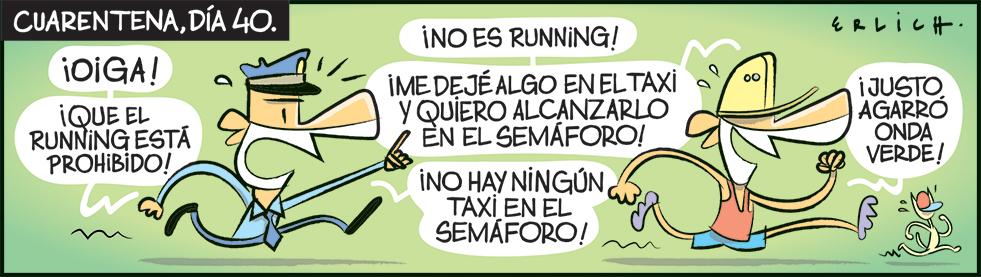 Está prohibido el running