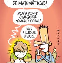 La tarea de matemáticas.